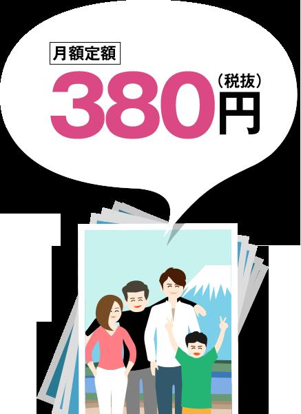 月額定額380円(税抜)